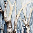 Dreaming Birch Trees by Barbara Pommerenke