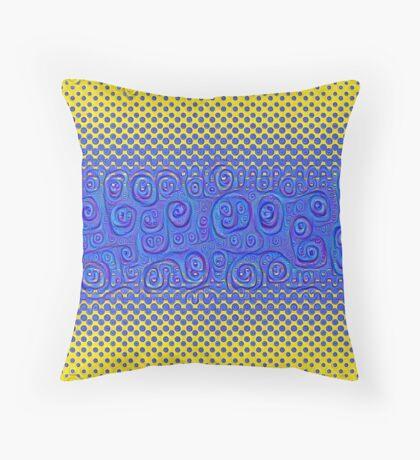 #DeepDream Color Circles Gradient Visual Areas 5x5K v1449227497 Throw Pillow