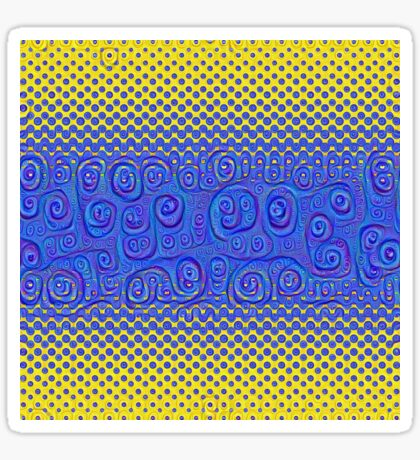 #DeepDream Color Circles Gradient Visual Areas 5x5K v1449227497 Sticker