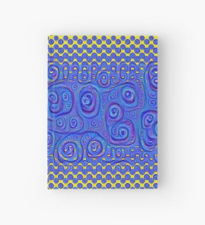 #DeepDream Color Circles Gradient Visual Areas 5x5K v1449227497 Hardcover Journal