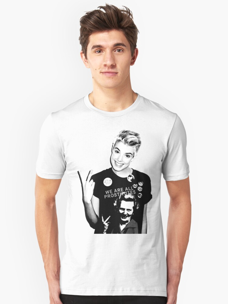 We Are All Prostitutes T-shirt by aamazed