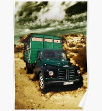 vintage lorry Poster