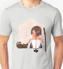 Samurai School Girl Slim Fit T-Shirt