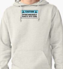 Caution: Spontaneously bursts into song Pullover Hoodie