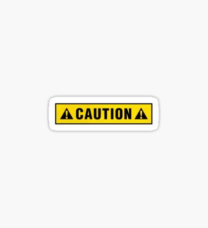 Caution label T-shirt Sticker