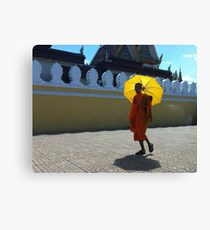 Buddhist monk in Phnom Pehn, Cambodia Canvas Print
