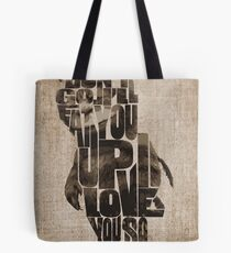 Where The Wild Things Are Typography Tote Bag