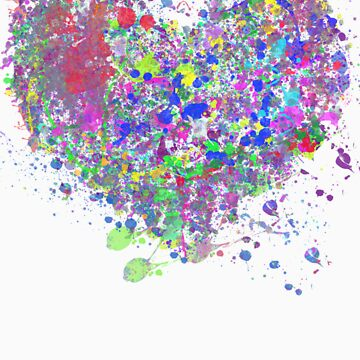 Paint splatter heart by BekkiAsquith