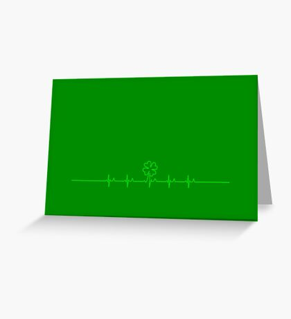 Heart Beat for Ireland VRS2 Greeting Card