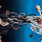 Equilibrium - two girls light dark butterflies & moths by plantiebee