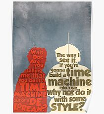 Back to the Future: A Time Machine out of a DeLorean Poster