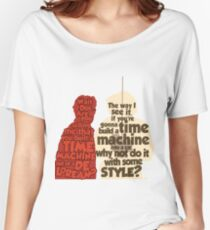 Back to the Future: A Time Machine out of a DeLorean Women's Relaxed Fit T-Shirt