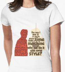 Back to the Future: A Time Machine out of a DeLorean Women's Fitted T-Shirt