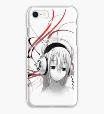 Anime Girl Headphones 1 iPhone Case/Skin