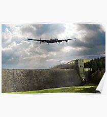 The Dam Busters over The Derwent Poster