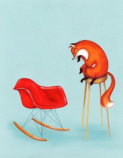 Fox Perplexed by Modern Furniture by Annya Kai