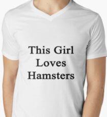 This Girl Loves Hamsters  Men's V-Neck T-Shirt