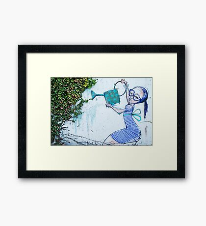 Giving life Framed Print