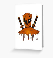 Orange Ninja Greeting Card