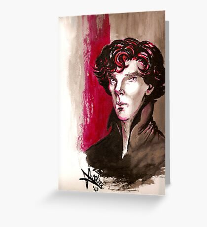 Sherlock - Into Darkness Greeting Card