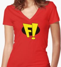 freakazoid logo Women's Fitted V-Neck T-Shirt