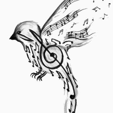 Musical bird  by saimatab