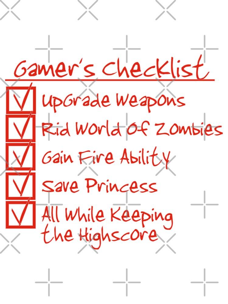 Gamer Checklist by Mehdals