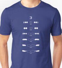 3 Heritage (E21, E30, E36, E46, E90, F30) Unisex T-Shirt