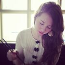 girl with chopsticks by Stefan Albani