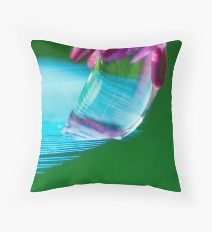 Shimmering Blue Throw Pillow