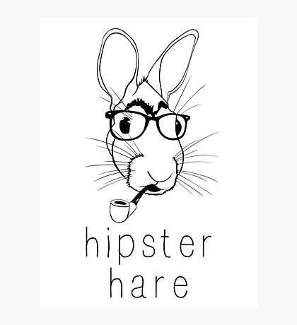 Hipster Hare Photographic Print