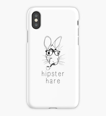 Hipster Hare iPhone Case
