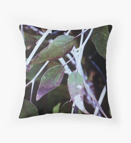 leaf & twig abstract Throw Pillow
