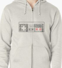 NES controller word cloud Zipped Hoodie