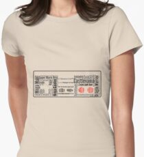 NES controller word cloud Women's Fitted T-Shirt