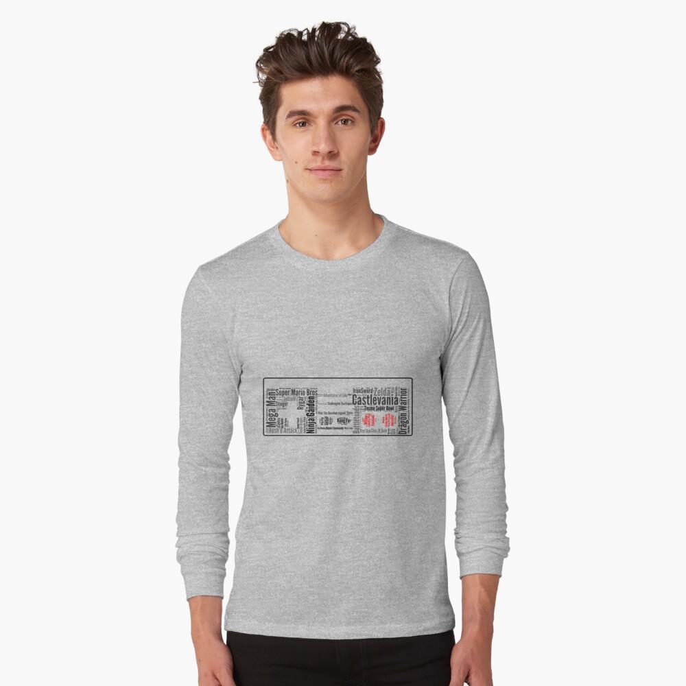 NES controller word cloud Long Sleeve T-Shirt Front