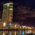 Along The Banks Of The Yarra River - Crown Casino (Color) by djzontheball