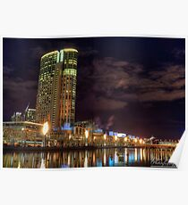 Along The Banks Of The Yarra River - Crown Casino (Color) Poster