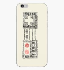 NES controller word cloud iPhone Case