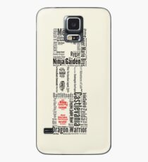 NES controller word cloud Case/Skin for Samsung Galaxy