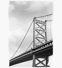 Benjamin Franklin Bridge, Philadelphia Poster