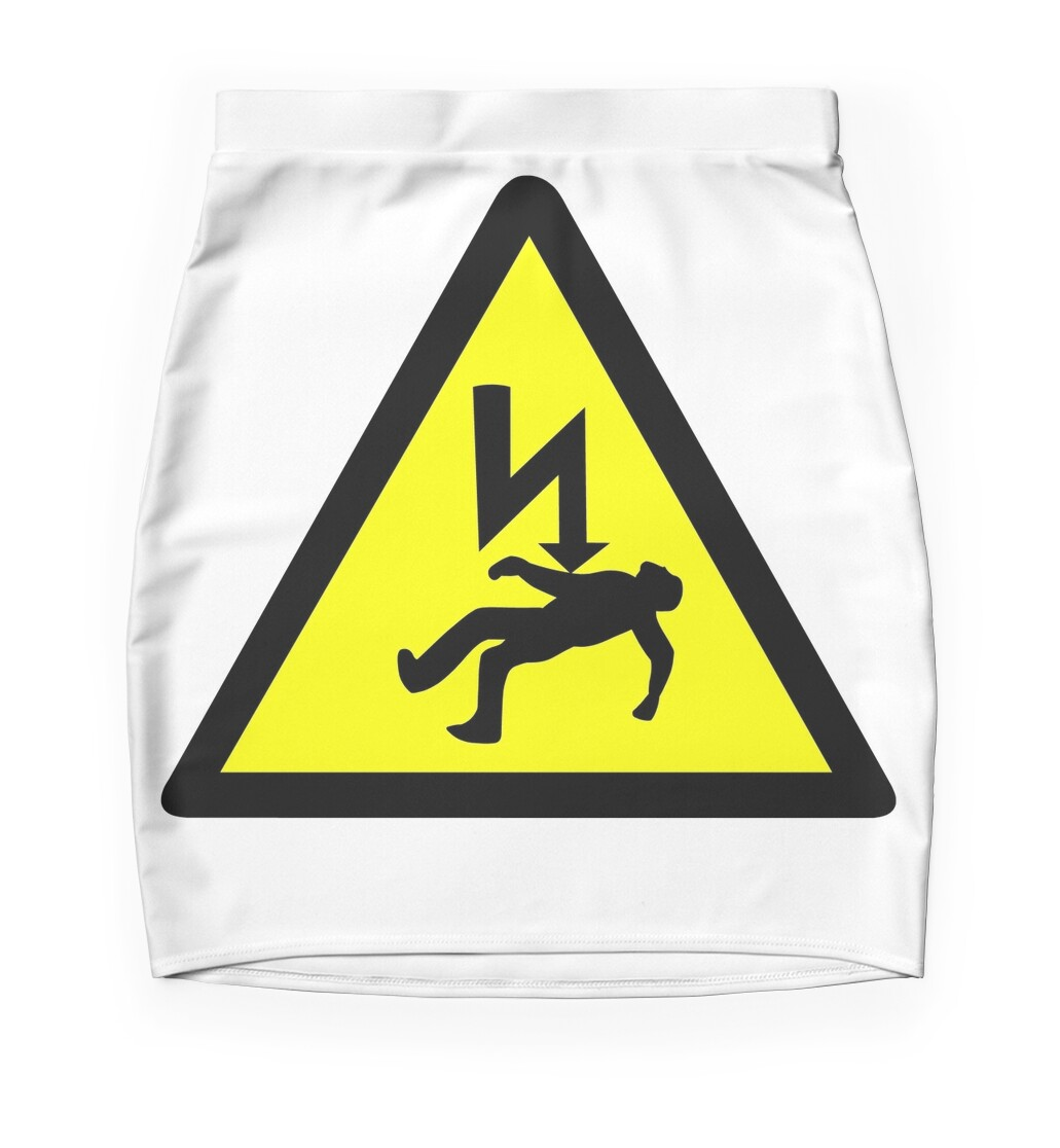 Danger of electric shock symbol mini skirts by sweetsixty danger of electric shock symbol biocorpaavc Image collections
