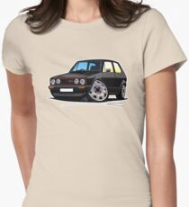 VW Golf GTi (Mk1) Black Womens Fitted T-Shirt