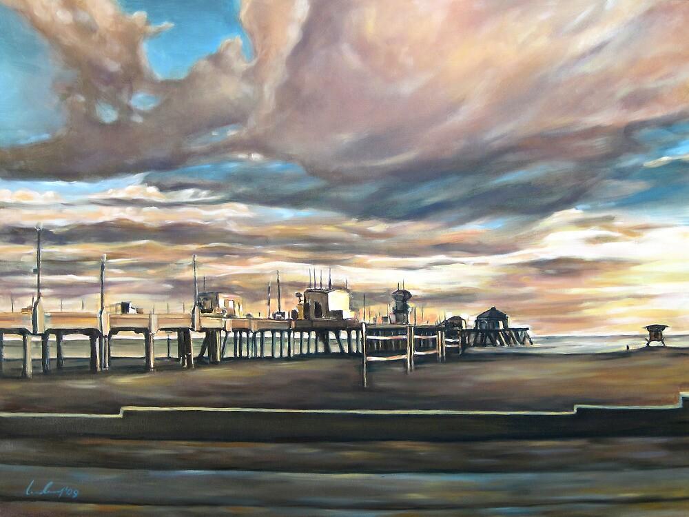 Huntington Beach Pier by Ivailo Boliarov