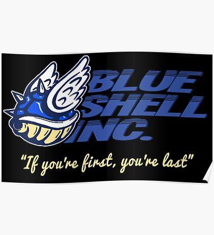 Blue Shell Inc. (no distressing) Poster