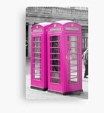 Pink Telephone Box  Metal Print