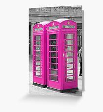 Pink Telephone Box  Greeting Card