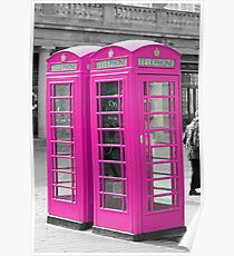 Pink Telephone Box  Poster