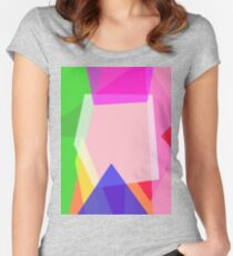 Minimalism Contrast Women's Fitted Scoop T-Shirt