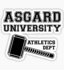 Asgard University - Athletics Department (Light Shirt) Sticker